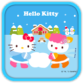 Hello Kitty Playing Snow
