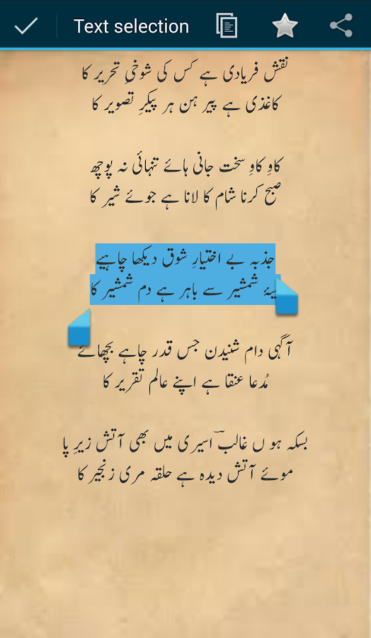 Ghalib Ghazals- screenshot