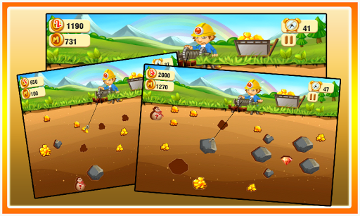 【免費休閒App】黃金礦工-APP點子