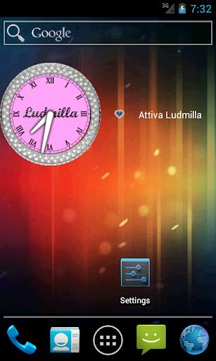 Ludmilla Widget clock