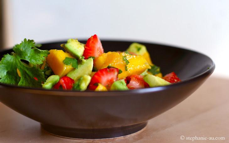 Avocado, Strawberry, and Mango Salad Recipe