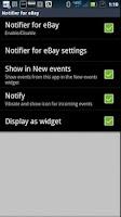 Screenshot of SmartWatch Notifier for eBay