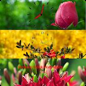 Flowers Clock Wallpapers