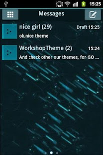 GO SMS Theme Black Blue- screenshot thumbnail