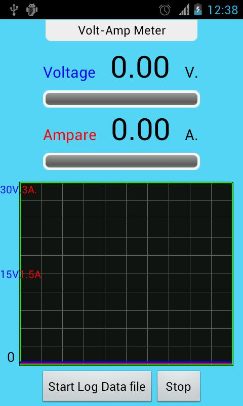 IOIO Volt Amp Meter- screenshot