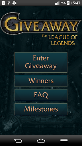 Giveaway for League of Legends