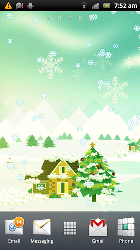 Snowing Christmas Wallpaper