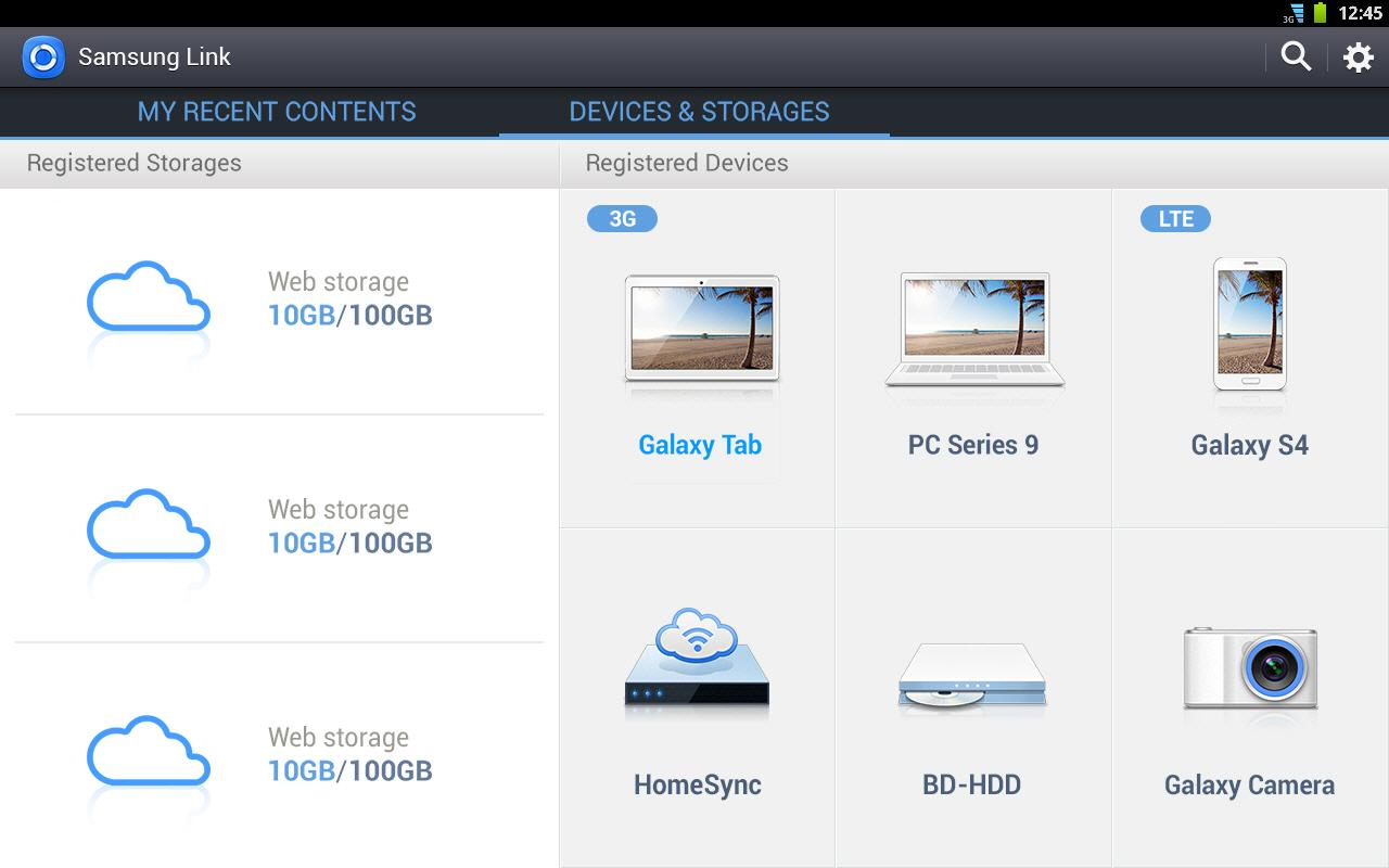Samsung Link - screenshot