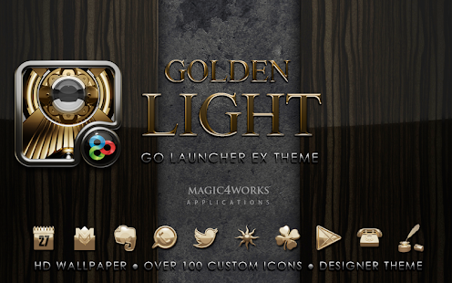 GO Launcher theme Golden Light