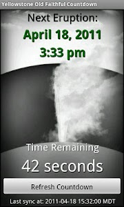 Old Faithful Countdown screenshot 0