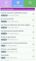 Screenshot of Pregnancy app & widget