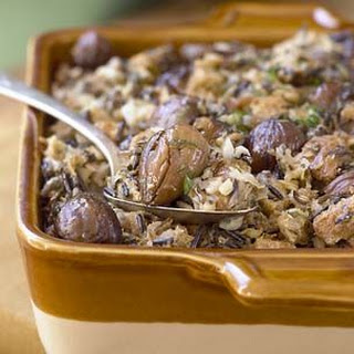 Wild Rice and Chestnut Dressing