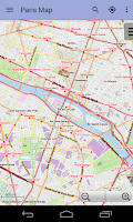 Screenshot of Paris Offline City Map