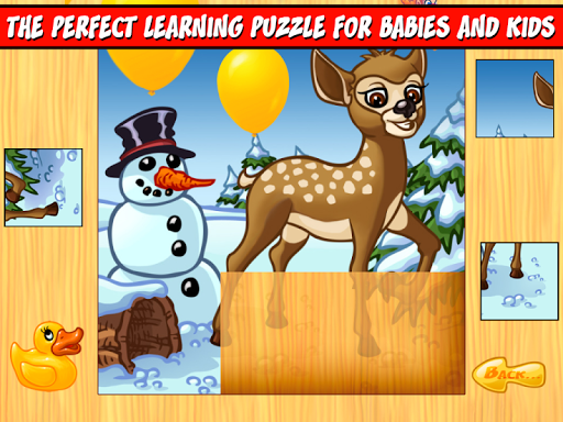 123 Forest Animals Kids Puzzle