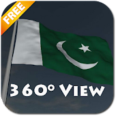 Real Pakistan Flag Live Wall
