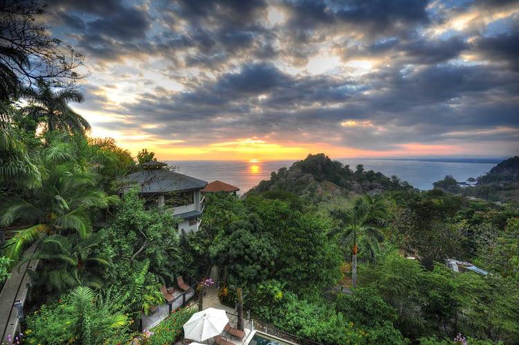 Sunset near Quepos, Puntarenas, Costa Rica in this HDR shot.