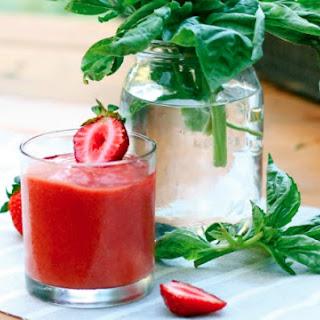 Strawberry Basil Smoothie