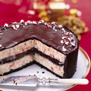 Chocolate-Peppermint Ice Cream Cake.