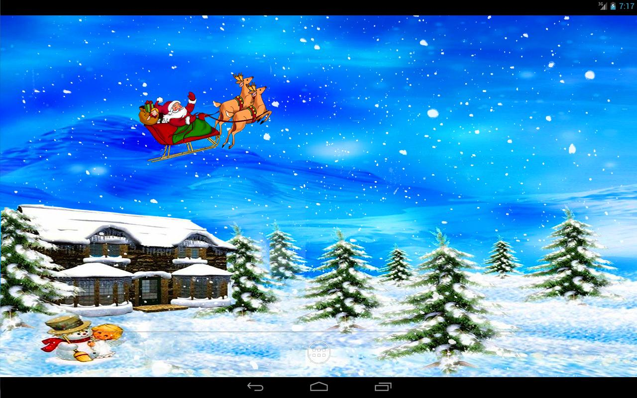 Christmas Snow Live Wallpaper Apl Android Di Google Play