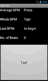 BPM Tap! - screenshot thumbnail