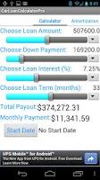 Screenshot of LoanCalcPro
