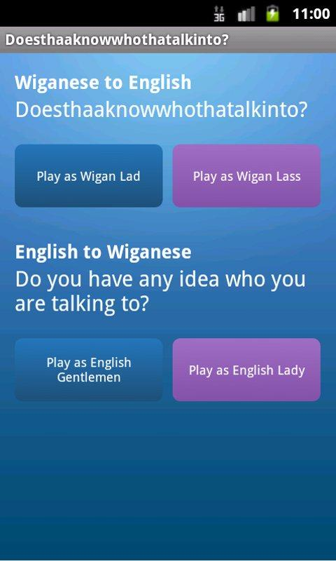 iWiganese - Wigan to English - screenshot