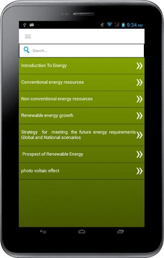Non-Conventional Energy