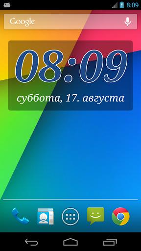 Виджет часов DIGI Clock скачать на планшет Андроид
