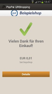 PayPal QRShopping – Miniaturansicht des Screenshots