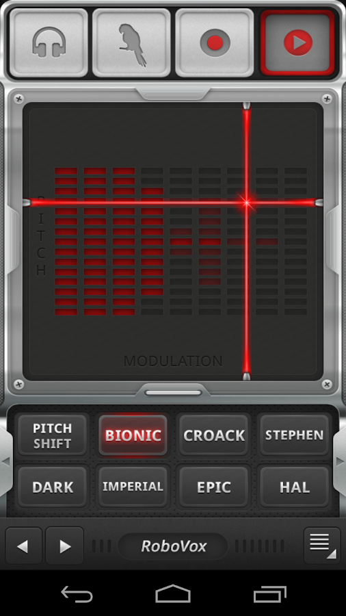 RoboVox Voice Changer- screenshot