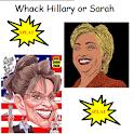 Whack Hillary or Sarah logo