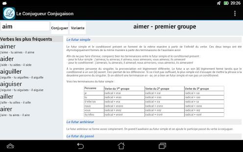 Le Conjugueur Conjugaison - screenshot thumbnail