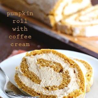 Pumpkin Roll with Coffee Cream