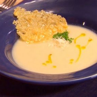 Silky Cauliflower Soup with Parmesan Crisps Recipe