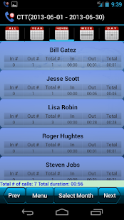 Call Time Tracker+Call Blocker - náhled