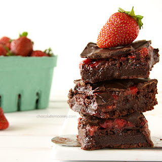Chocolate Strawberry Brownies Recipes.