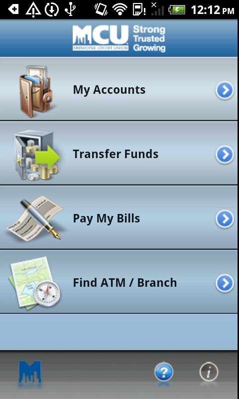 NYMCU Mobile Banking - screenshot