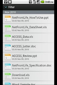 NetFront Life Documents screenshot 0