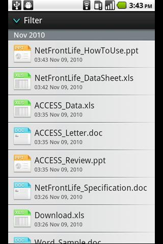 NetFront Life Documents- screenshot