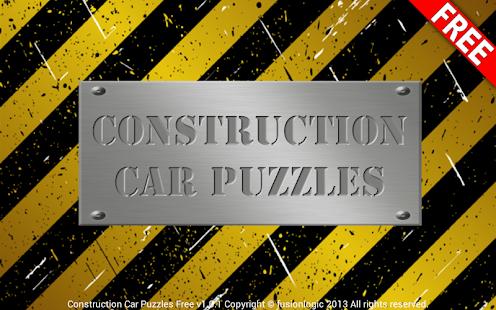 Construction Car Puzzles Free