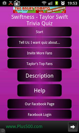Swiftness- Taylor Swift Trivia