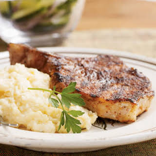Barbecue-Rubbed Pork Chops.