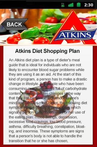 Atkins Diet Shopping Plan