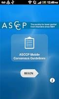 Screenshot of ASCCP Mobile