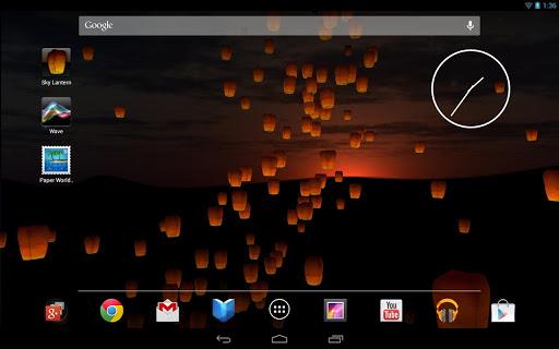 """Живые обои """"Sky Lantern"""" для планшетов на Android"""