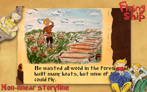Interactive story: Flying ship