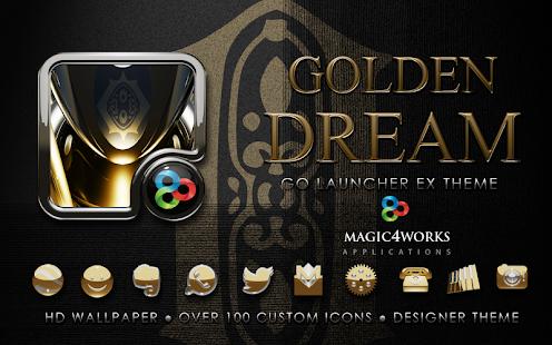 GO Launcher theme Golden Dream