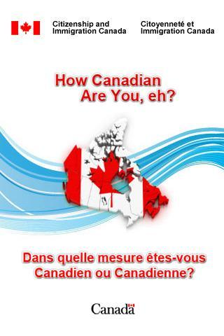 How Canadian are you, eh?- screenshot