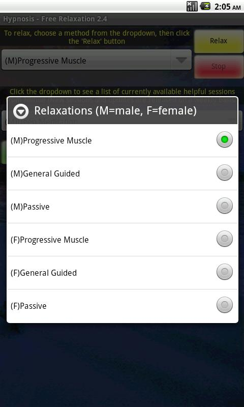 Hypnosis - (Free) Relaxation - screenshot