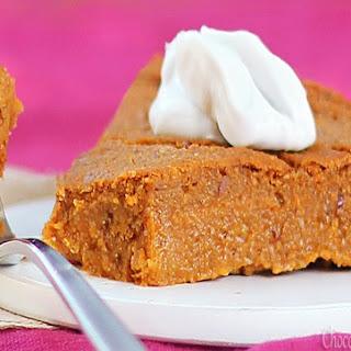 Crustless Pumpkin Pie.